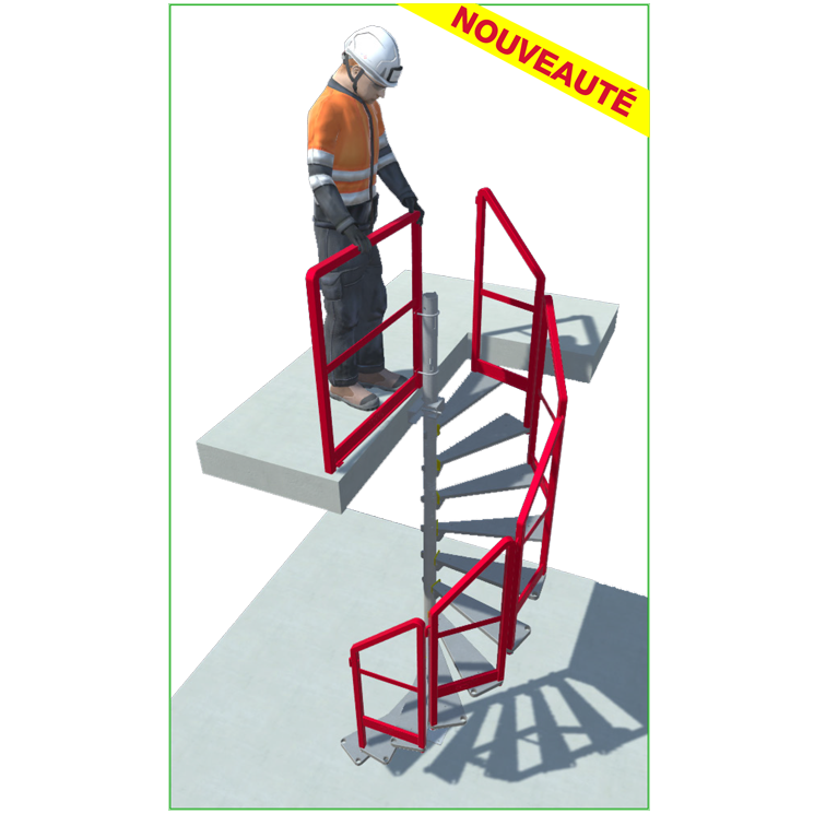 Temporary Spiral Staircase