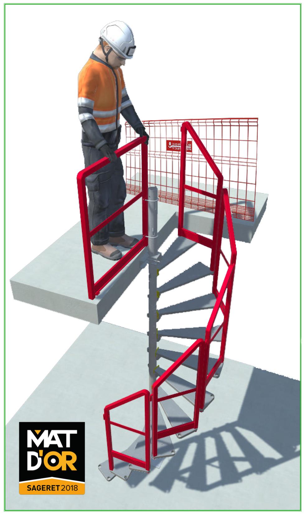 Escalier en colimaçon Bat'Access