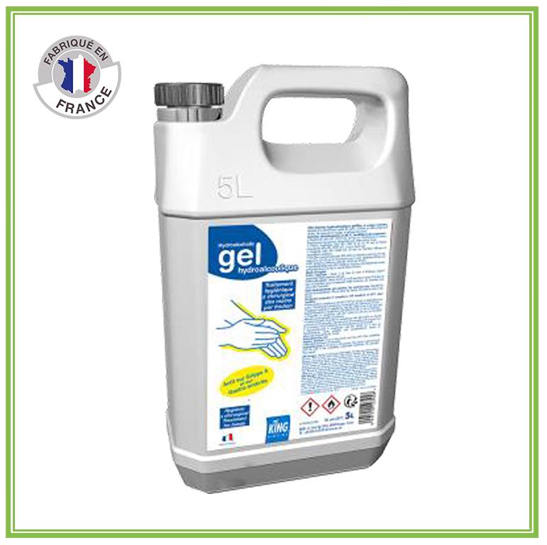 Bidon de gel hydroalcoolique