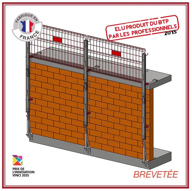 protection grimpante - structure autoporteuse - travaux maçonnerie - Mac Protect