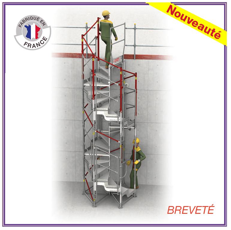 Escalier de chantier - Accès chantier - Escalib Hexagonal